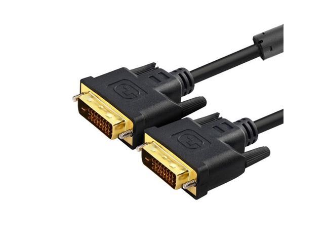 10ft DVI-D Dual Link 24+1 Pin Gold Male Digital Video Cable for Monitor PC TV