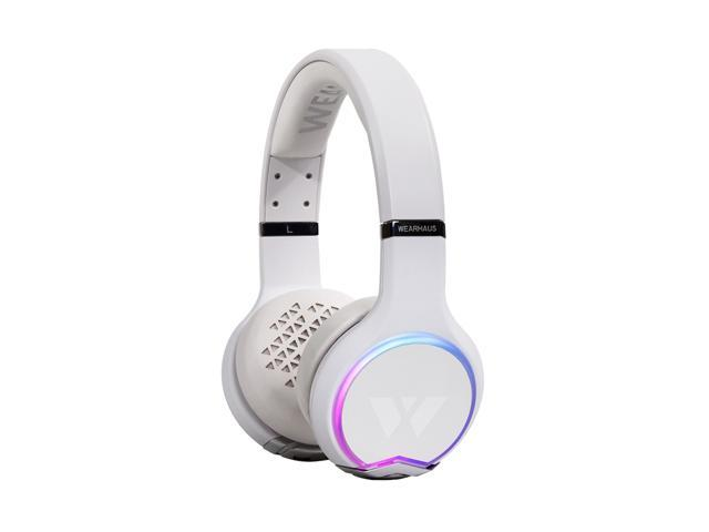f7b8a6c8388 Wearhaus Arc Bluetooth Headphones with Customizable Lights, Touch Controls,  and Wireless Audio Sharing (White)