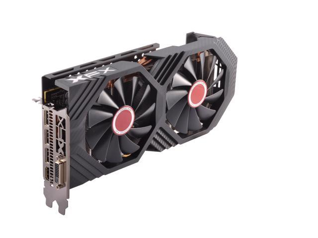 XFX GTS Black Edition RX 580 8GB OC+ 1425MHz RX-580P8DBD6 DDR5 3xDP HDMI DVI With XFX Custom Backplate