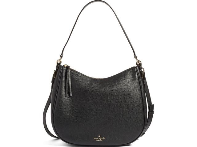 KATE SPADE NEW YORK Mylie Leather Shoulder Bag in Black ... fa4ce6ace3777