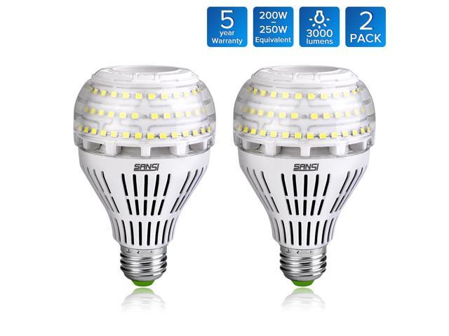 Sansi A21 22w 250 200watt Equivalent Omni Directional Ceramic Led Light Bulbs 3000 Lumens 5000k Daylight Cri 80 E26 Medium Base Home Lighting