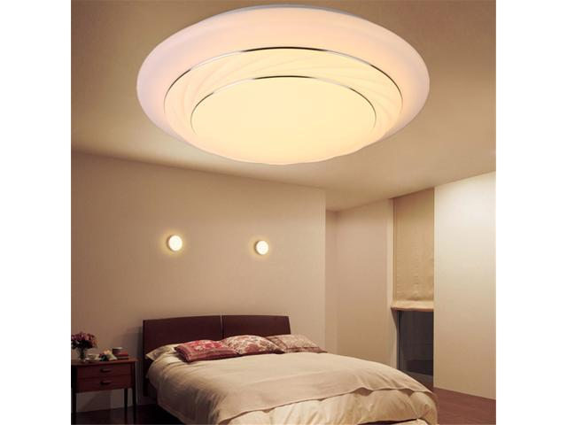 24W Round LED Flush Mount Ceiling Light 3500k   6400k 4000 Lumens Downlight  Lighting Natural/