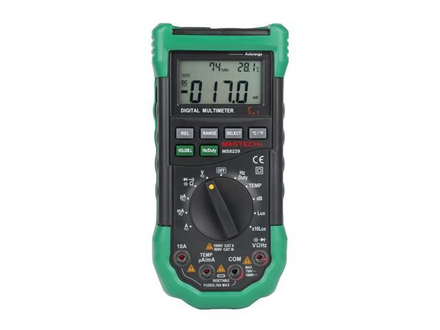 Mastech MS8229 Auto-Range 5-in-1 Multi-functional Digital Multimeter  Measuring Tool - Newegg com