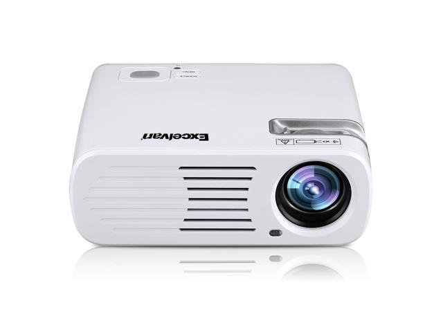 Excelvan EHD11 2600 Lumens LED Home Theater Projector Support 1080P 3D -  Newegg com