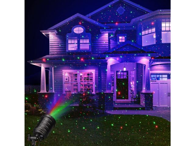 Suaoki Laser Landscape Light Red Green Star Projector With Blue Purple Background Remote Control Timer