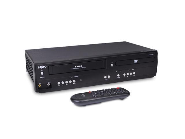refurbished sanyo fwdv225f dvd vcr combo line in recording newegg com