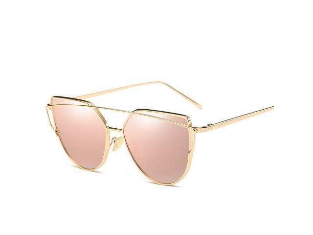 42e705e80 Fashion Brand Sunglasses for Women Cat Eye Sun Glasses Mirror Gold  Sunglasses Female Vintage