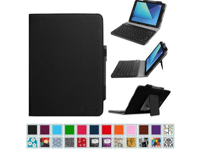 super cute 558f0 6d881 For Samsung Galaxy Tab S3 9.7 Keyboard Case - Folio stand Cover with  Detachable Bluetooth Keyboard, Black - Newegg.com