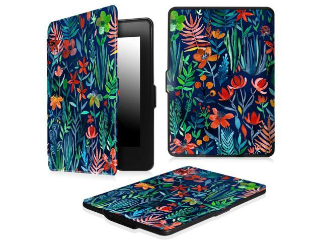 promo code 36bf7 5795b Fintie SlimShell Case for Amazon Kindle Paperwhite Gen Prior to 2018, Not  Fit All-new Paperwhite 10th Gen, Jungle Night - Newegg.com
