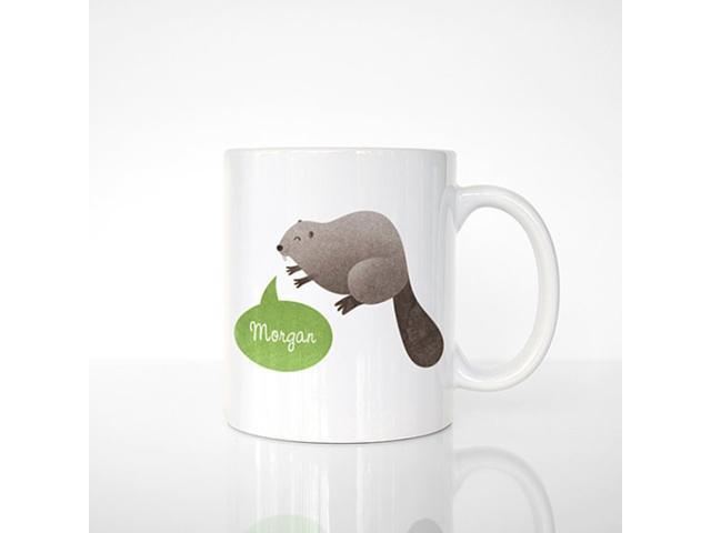 Custom Name Mug Beaver Personalized Unique Coffee Office