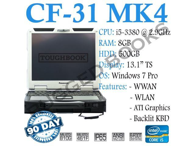 "Panasonic ToughBook CF-31 MK4 Performance/ Intel Core i5-3380 @ 2.90GHz/RAM: 8GB, HDD:500GB/GOBI/TouchScreen 13.1""-LCD/ Wi-fi/BLUETOOTH/"