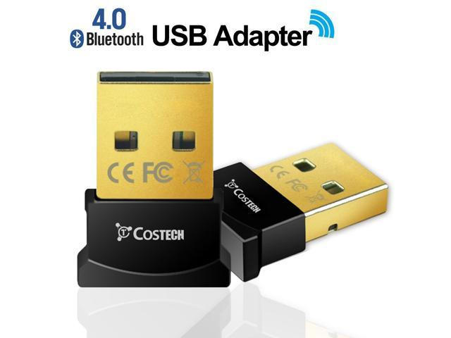 Bluetooth 4 0 USB Adapter, Costech Gold Plated Micro Dongle 33ft/10m  Compatible with Windows 10,8 1/8,7, Vista, XP, 32/64 Bit for Desktop,  Laptop,