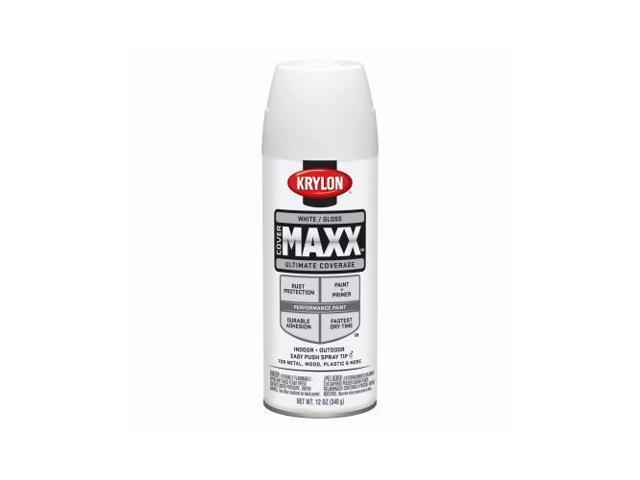 Krylon Diversified Brands K09146000 Covermaxx Brilliant Spray Paint, Gloss  White, 12-oz, - Quantity 1 - Newegg com
