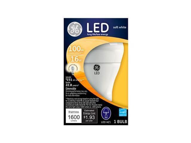 G E Lighting 22711 LED Omni-Directional Light Bulb, White, 16-Watt -  Quantity 1 - Newegg com