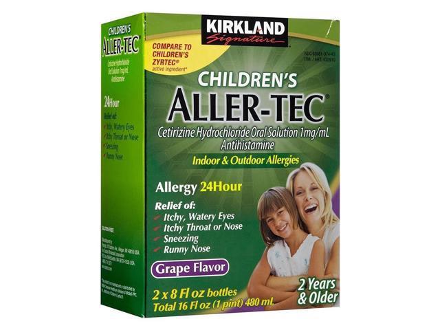 Kirkland Children's Aller-tec 16 oz 2-Pack 24-hour Allergy Relief Grape -  Newegg com