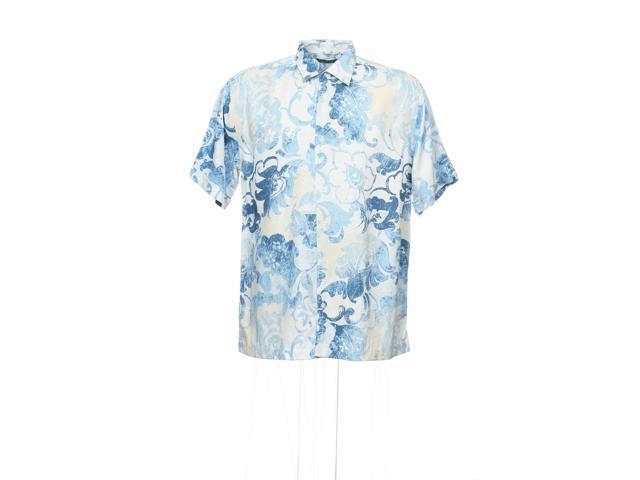 e7f5c252a Cubavera Light Blue Hawaiian Camp Shirt - Newegg.com