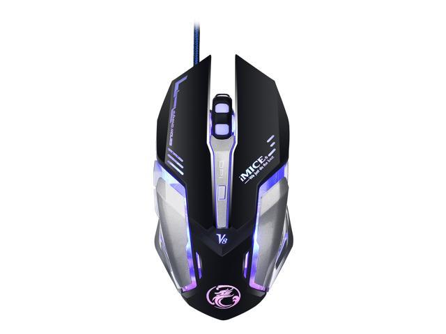 906abb98aaf Wanmingtek V8 Programmable PC Computer Game Mouse Macro 4000DPI Led Optical  6D USB Wired game Gaming
