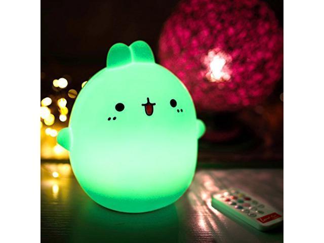 Wanmingtek Baby Night Light Led Silicone Cute Rabbit Cartoon Portable Lamp Touch Sensor Tap