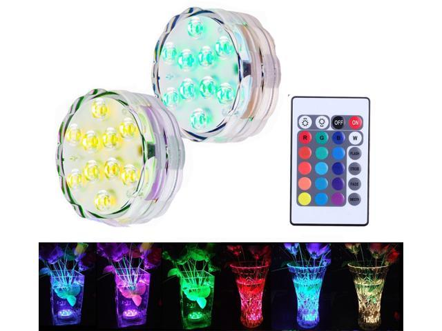 Wanmingtek Underwater Decorative Lights Rgb Colorful Waterproof Led Lights Candle Lights With 10 Led And Remote Controller For Swimming Pool