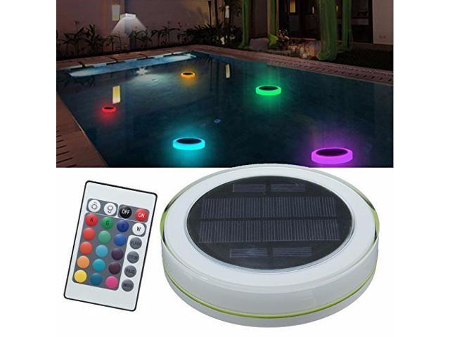 Wanmingtek Solar Swimming Pool Light,LED RGBW Garden Party Bar ...