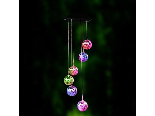 Wanmingtek Led Wind Chime Lights Solar Color Changing Mobile Chimes Night