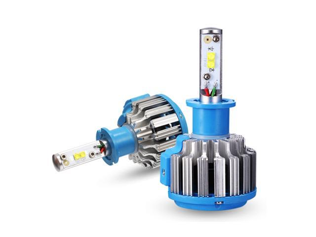 378b0e064 H3 Linterna del LED bombillas para Auto conversión luz Kit LED convexo  Chips 70W 7200LM 6000K