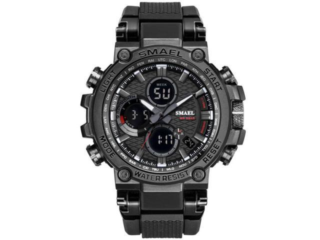 e678fac6aa03 SMAEL hombre relojes LED de pantalla Dual de reloj de hombre cuarzo  electrónico analógico Digital Relojes