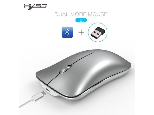 HXSJ Wireless Gaming Mouse, Unique Silent Click, Bluetooth + 2 4 G wireless  Mice, 1600DPI for PC Computer Laptop Office - White - Newegg com