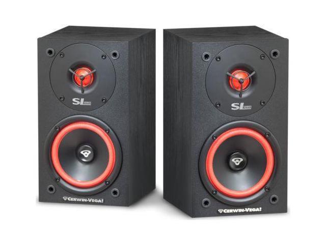 Cerwin Vega Bookshelf Speakers Pair SL5M 2 Way 125 Watts
