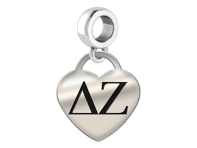 Delta Zeta Heart Drop Charm Newegg