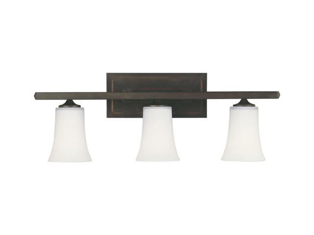 Feiss Canterbury 3 Light Vanity Fixture Oil Rubbed Bronze: Feiss Boulevard 3-Light Vanity Fixture In Oil Rubbed
