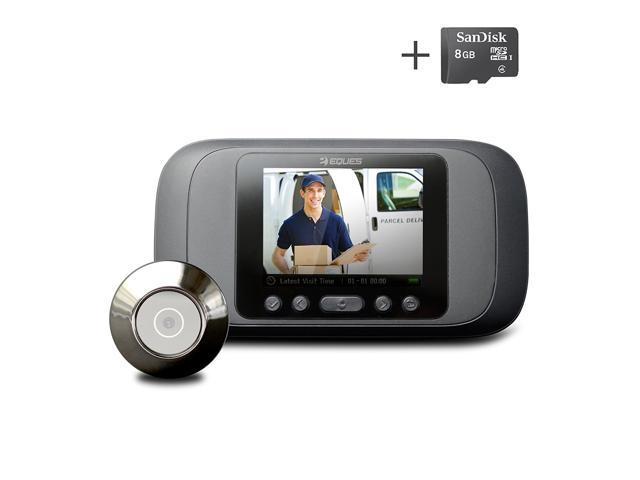Video Intercom 2018 High Resolution 2.4 Inch Lcd Visual Monitor Door Peephole Peep Hole Wired Viewer Indoor Monitor Outdoor Video Camera Diy The Latest Fashion