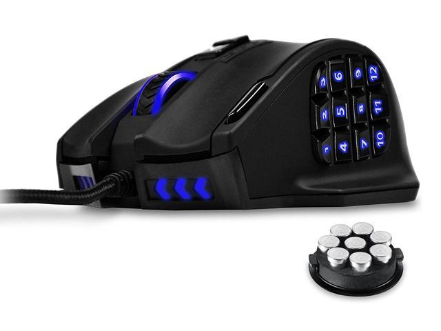 Gaming Mouse, UtechSmart Venus 16400 DPI High Precision Laser MMO Gaming Mouse, 12000 FPS, 1000 Hz polling rate , 18 programmable buttons ,16 million LED color option,Ergonomic Right Handed Design - Sale: $44.99 USD
