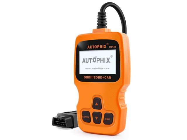 Autophix OM123 Automotive OBD II Car Scanner Check Engine Fault Code  Reader, Turn Off Engine