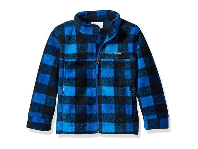 Columbia Boys 2T-4T Zing III Fleece Jacket (Super Blue Buffalo Check 4T)