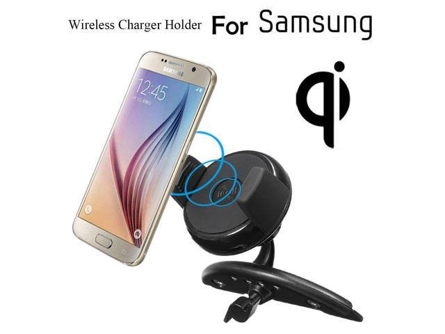 qi wireless car fast charger cd slot mount holder dock stand for