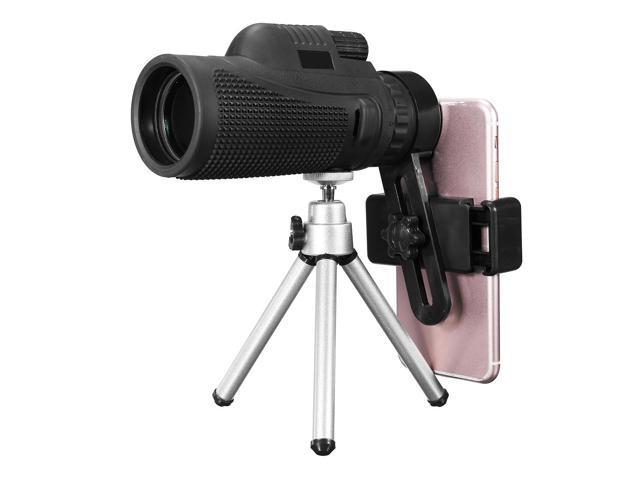 Monocular zoom optical hd lens telescope tripod clip for