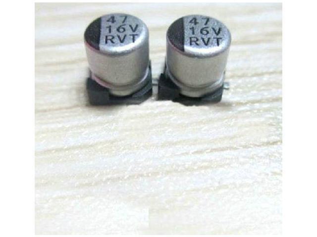 20X SMD Aluminium Electrolytic Capacitor 16V 47UF 5X5 4mm Surface Mount 20%  AK - Newegg com