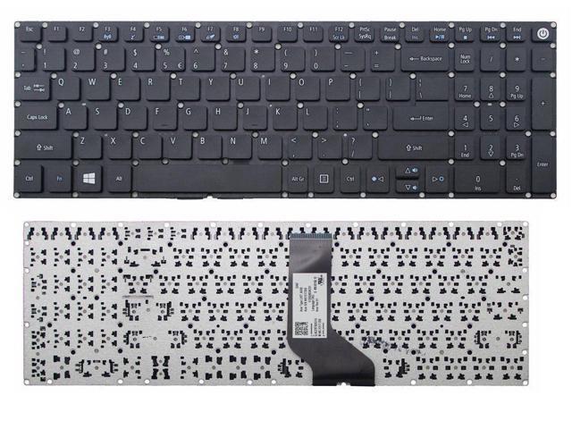Laptop Keyboard Compatible for Acer Aspire E5-722 E5-722G E5-752 E5-752G E5-772 E5-772G US Layout Black Color No Frame