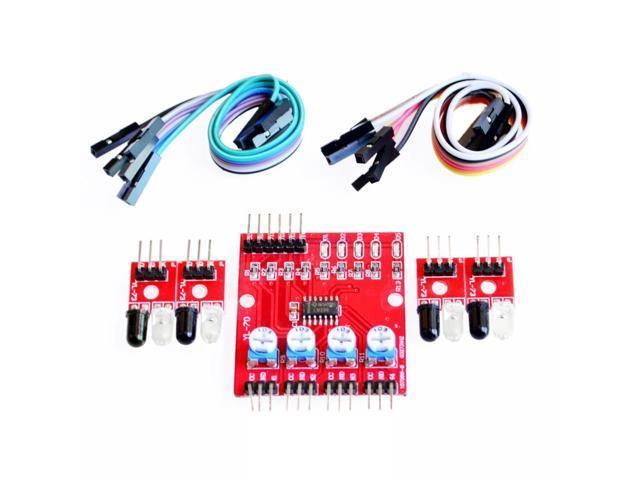 5x Four Way 4 Channel Infrared Detector Tracing Transmission Line ...