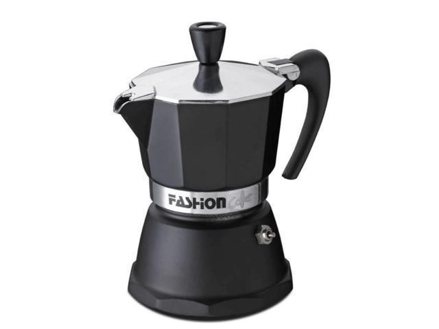 Gat Fashion Stove Top Espresso Coffee Maker Certified Food Safe Aluminium With Matt Black