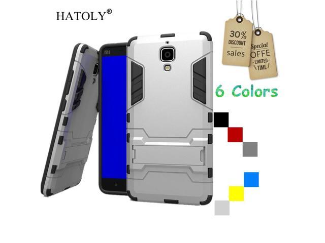 HATOLY For Cover Xiaomi Mi4 Case Silicone Robot Armor Rugged Rubber Slim Hard Back Phone Case