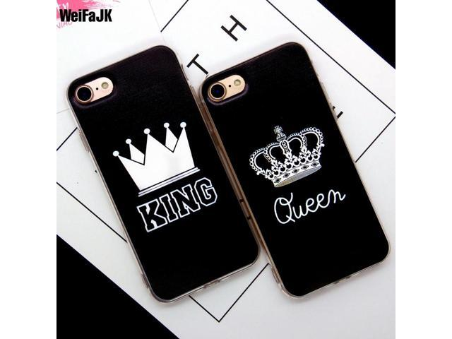 63181e1db41 WeiFaJK KING Queen Phone Cases For iphone 7 7Plus Case Girl Funda TPU  Silicon Soft Cover
