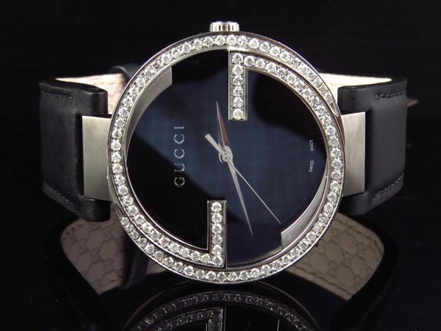 9f3ec97ea5d Mens Gucci Interlocking GG Diamond Watch YA133205 (2.0 ct ...