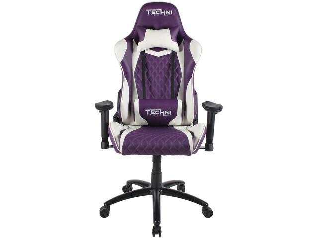 Cool Gaming Chair Techni Sport Ts 5200 Purple W White Accents Ergonomic High Back Racer Style Pc Console Video Gaming Study Evergreenethics Interior Chair Design Evergreenethicsorg