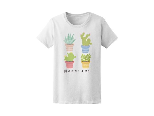 1a30ef6e Plants Are Friends Cute Cactus Tee Women's -Image by Shutterstock ...