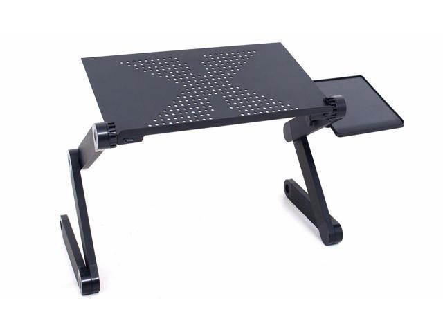Adjustable Folding Laptop Stand With Mouse Tray For Bed Table Sofa Desk  Portable