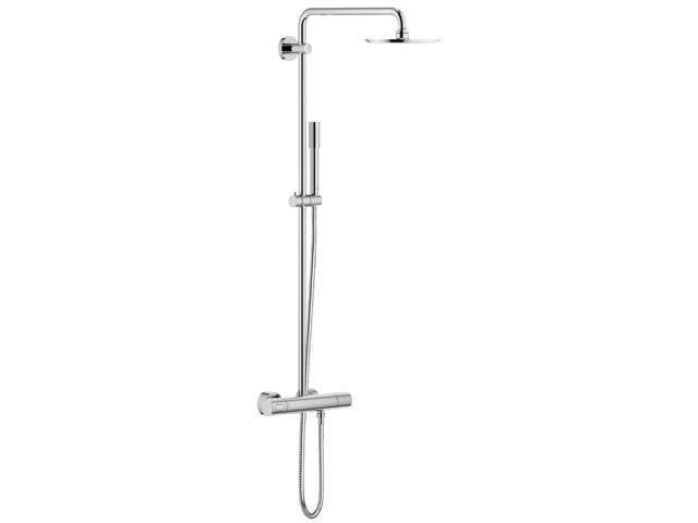 Grohe 27032001 Rain Shower 210 Shower System Thermostat - Newegg com