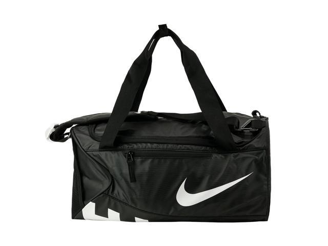 Nike Alpha Adapt Crossbody Small Duffel Bag Black Black White ... bcdc4cbe93e53