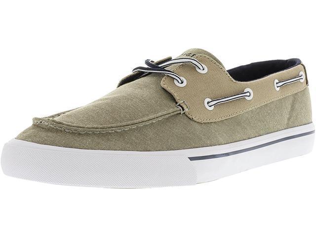 2aad4984c470f9 Tommy Hilfiger Mens Pharis Fabric Closed Toe Boat Shoes
